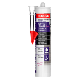 met 2343 penosil roof facade crystal sealant 290 ml transparent lt 230x690